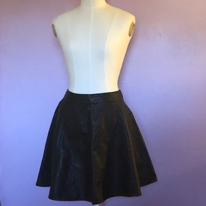 H&M Faux Leather Circle Skirt
